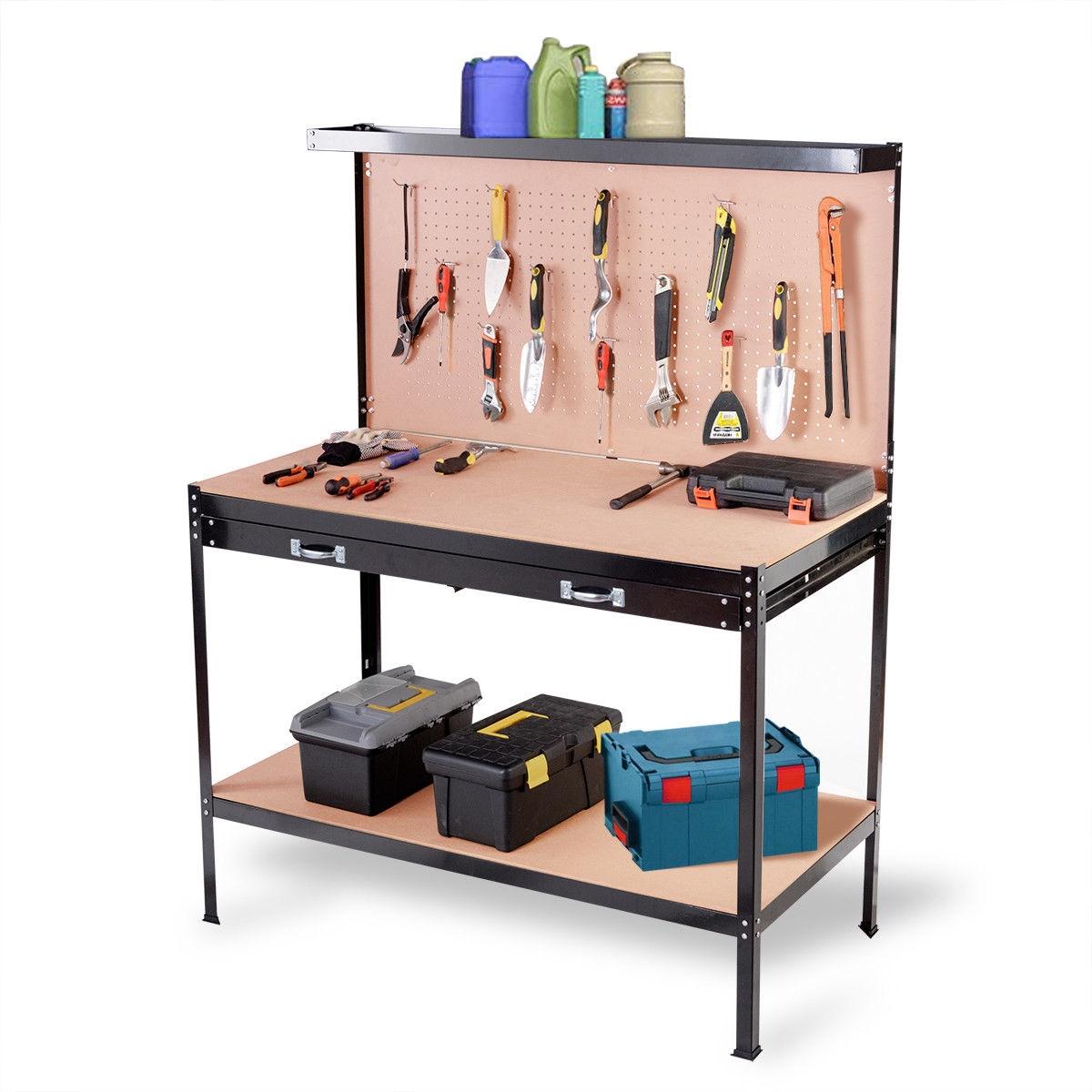 Multi-Purpose Tools Storage Steel Frame Workshop Workbench