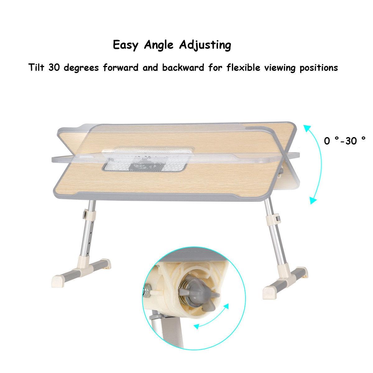 Portable Adjustable Folding Laptop Computer Table