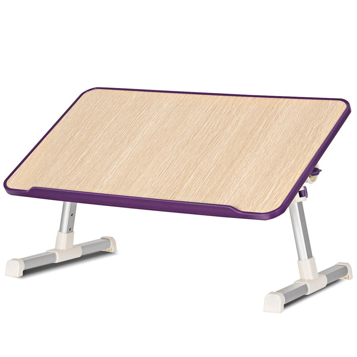 Portable Adjustable Desk Folding Lazy Laptop Computer Table