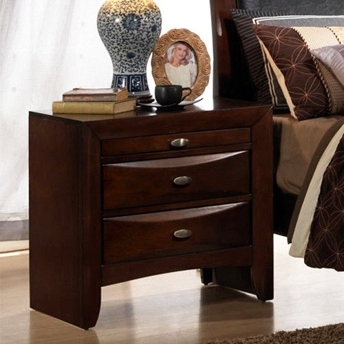 3 Drawers Modern Storage Nightstand End Beside Table