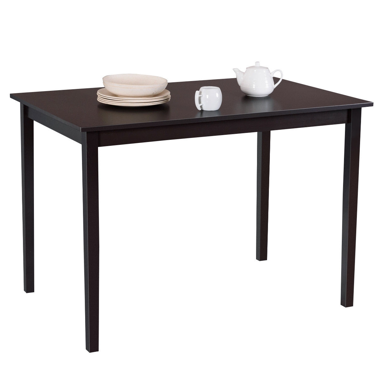 Modern Rectangle Dining Table with Wooden Legs