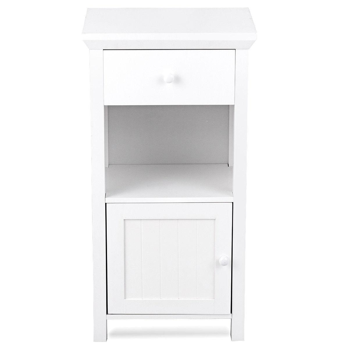 Bathroom Floor Storage Drawer Cabinet Cupboard with Door