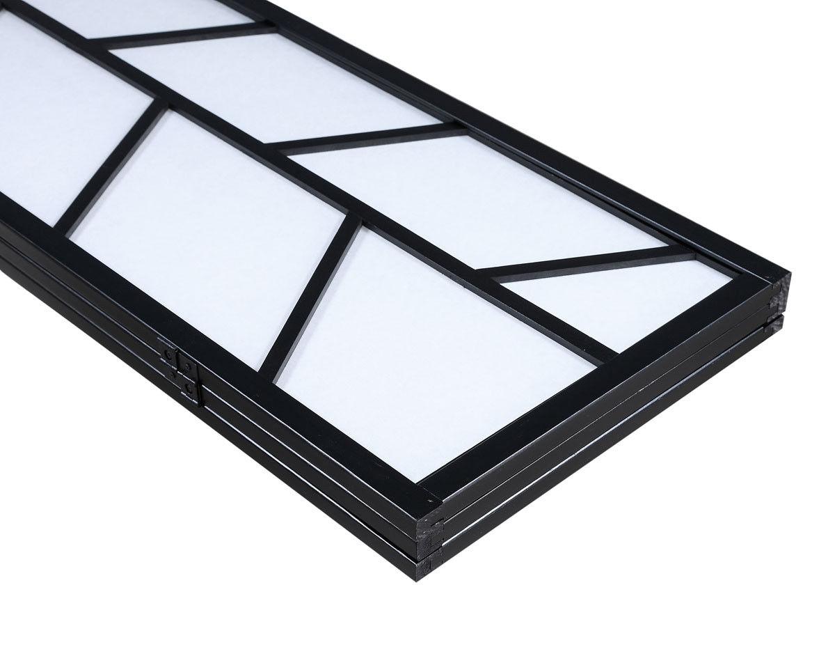 3 Panel Folding Shoji Room Divider Screen with Pine Wood Frame-B