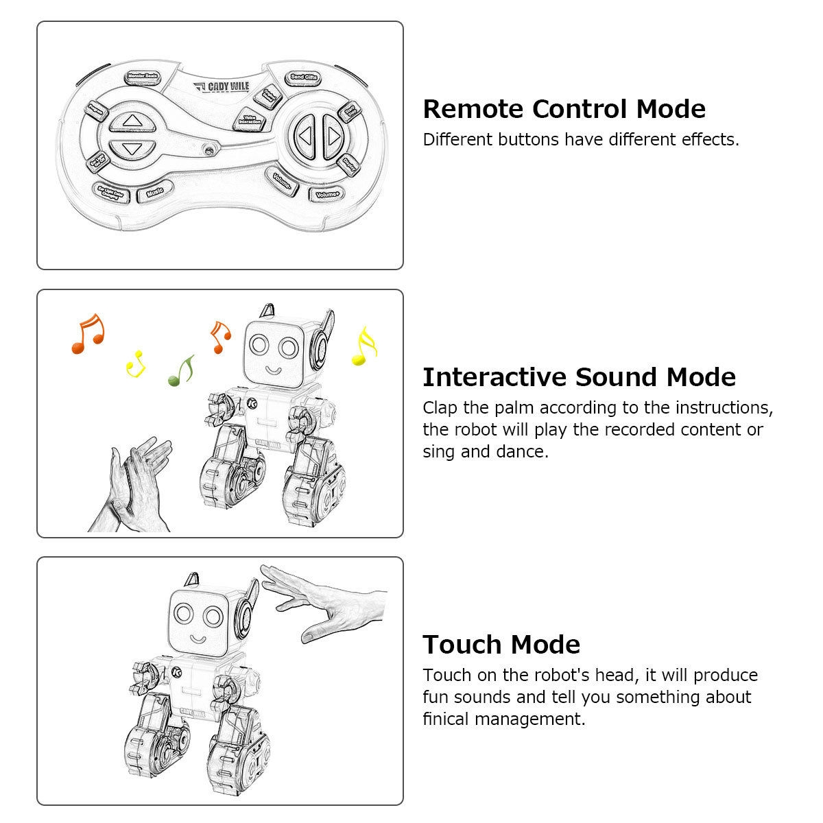 K3 Programmable Touch & Sound Control Piggy Sing Dance Robot