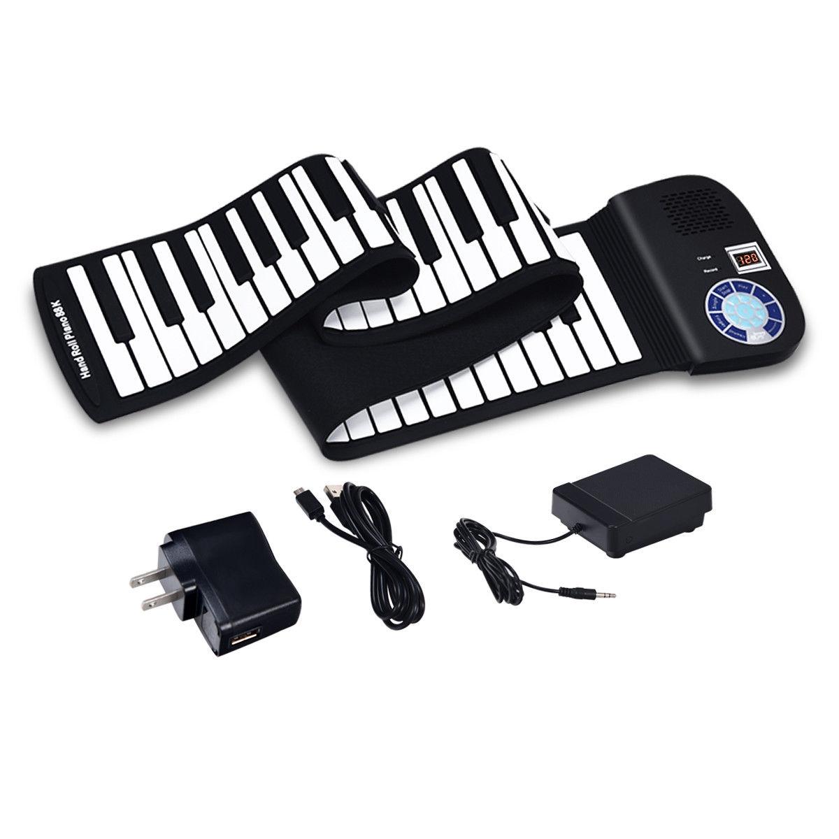88 Keys Midi Electronic Roll up Piano Silicone Keyboard