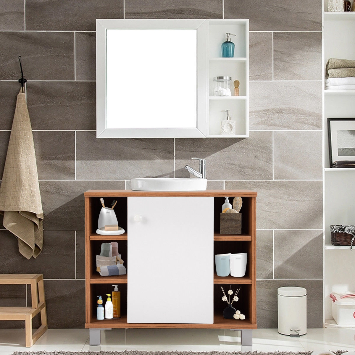 Under Sink Cabinet Bathroom Spacesaver Storage Cabinet