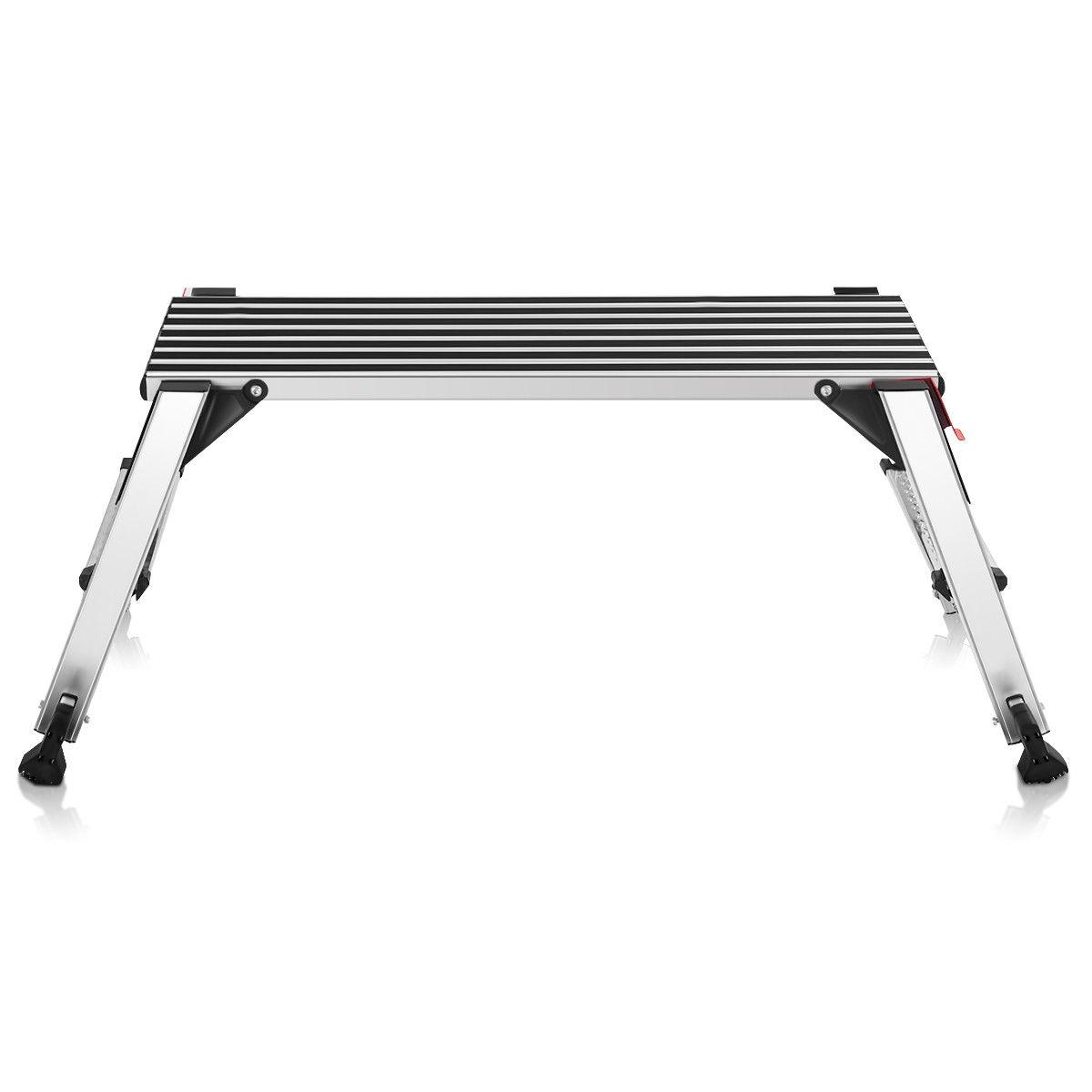 330 lbs Aluminum Folding Non-slip Drywall Step Stool Ladder
