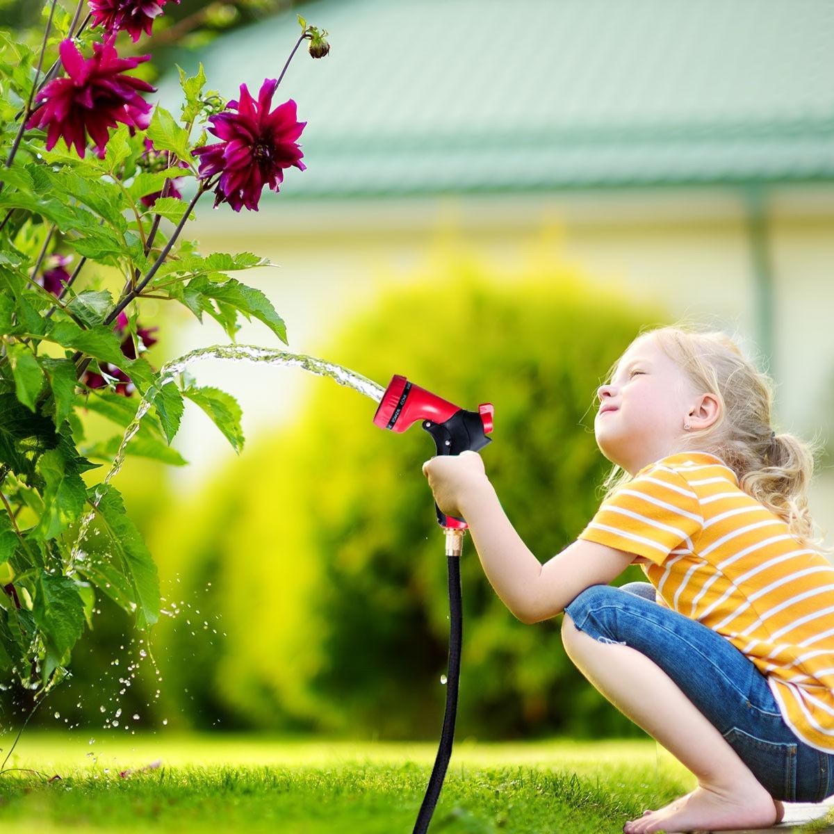 100 ft Garden Expandable 9 Function Hose Pipe Spray Gun