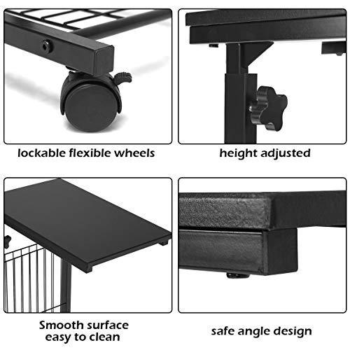 Height Adjustable Sofa Side Snack End Slide Table