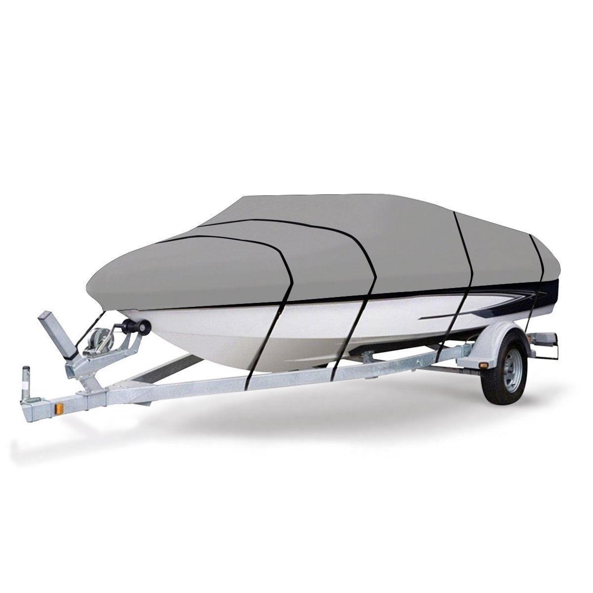 Heavy Duty 600D Marine Grade Polyester Canvas Trailerable Waterproof Boat Cover
