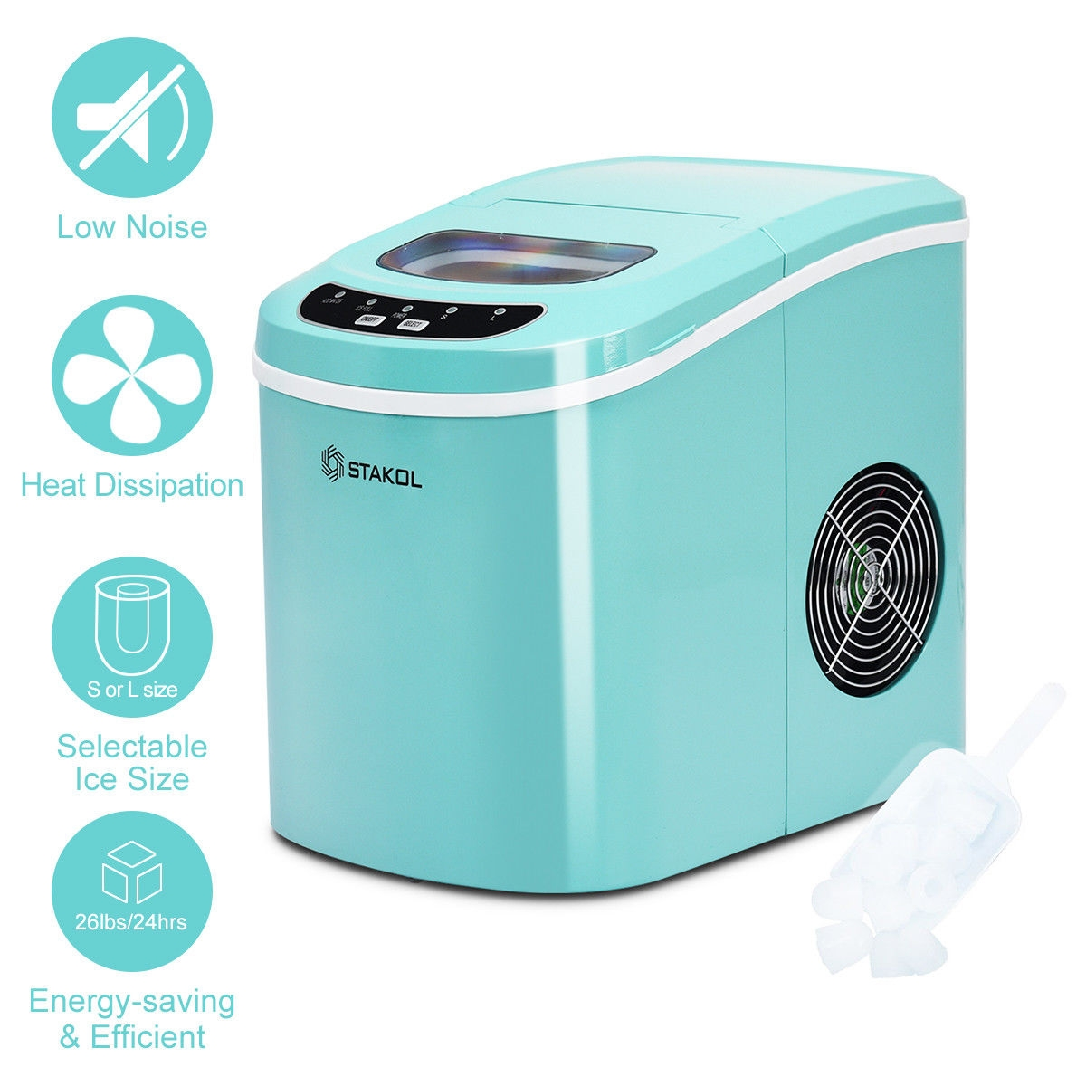 Mini Portable Compact Electric Ice Maker Machine