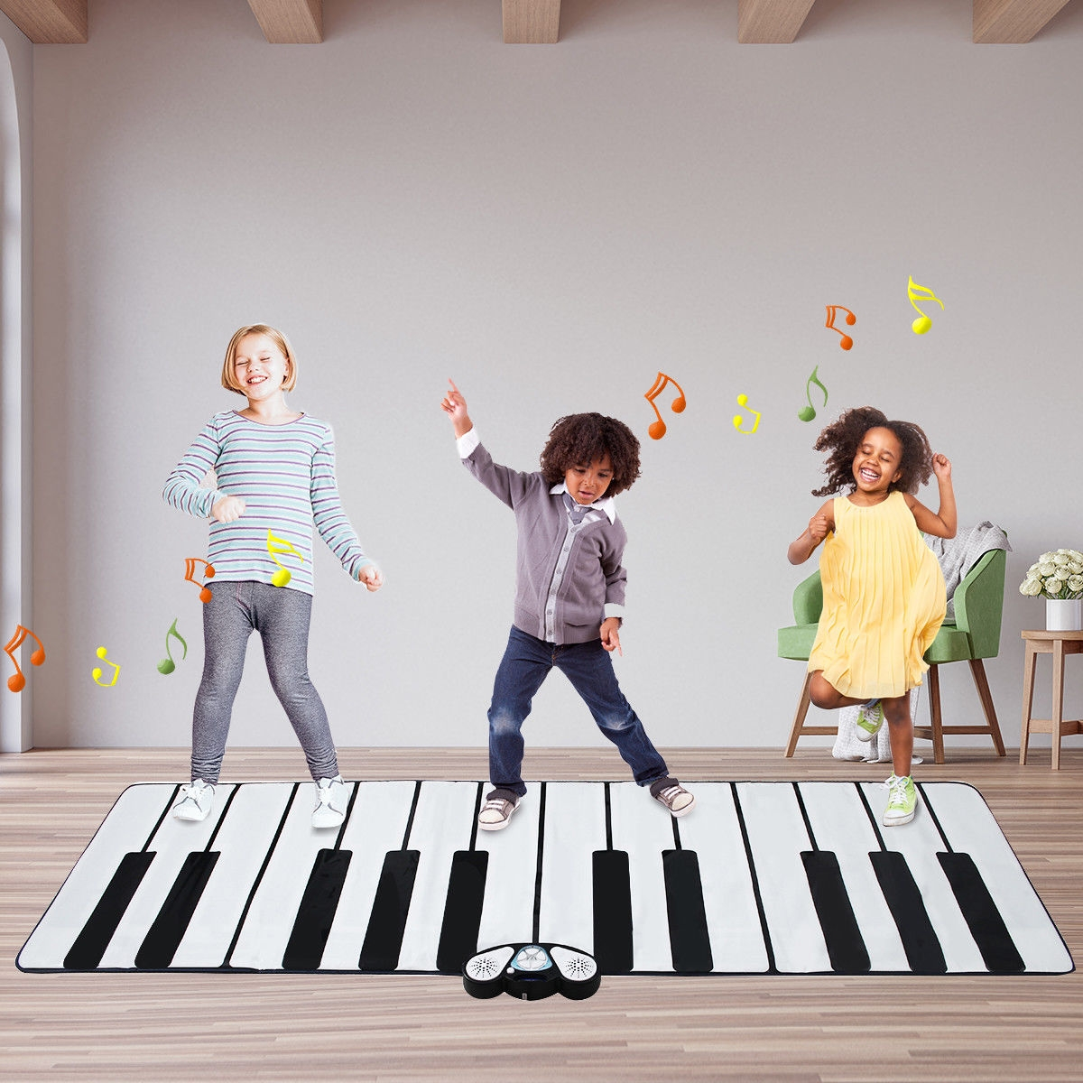 24 Key Gigantic Piano Keyboard with 9 Instrument Settings