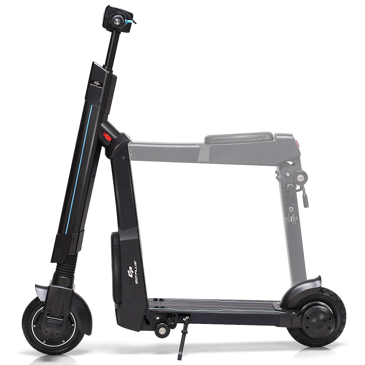 LED Bluetooth Folding Electric Scooter with Removable Seat