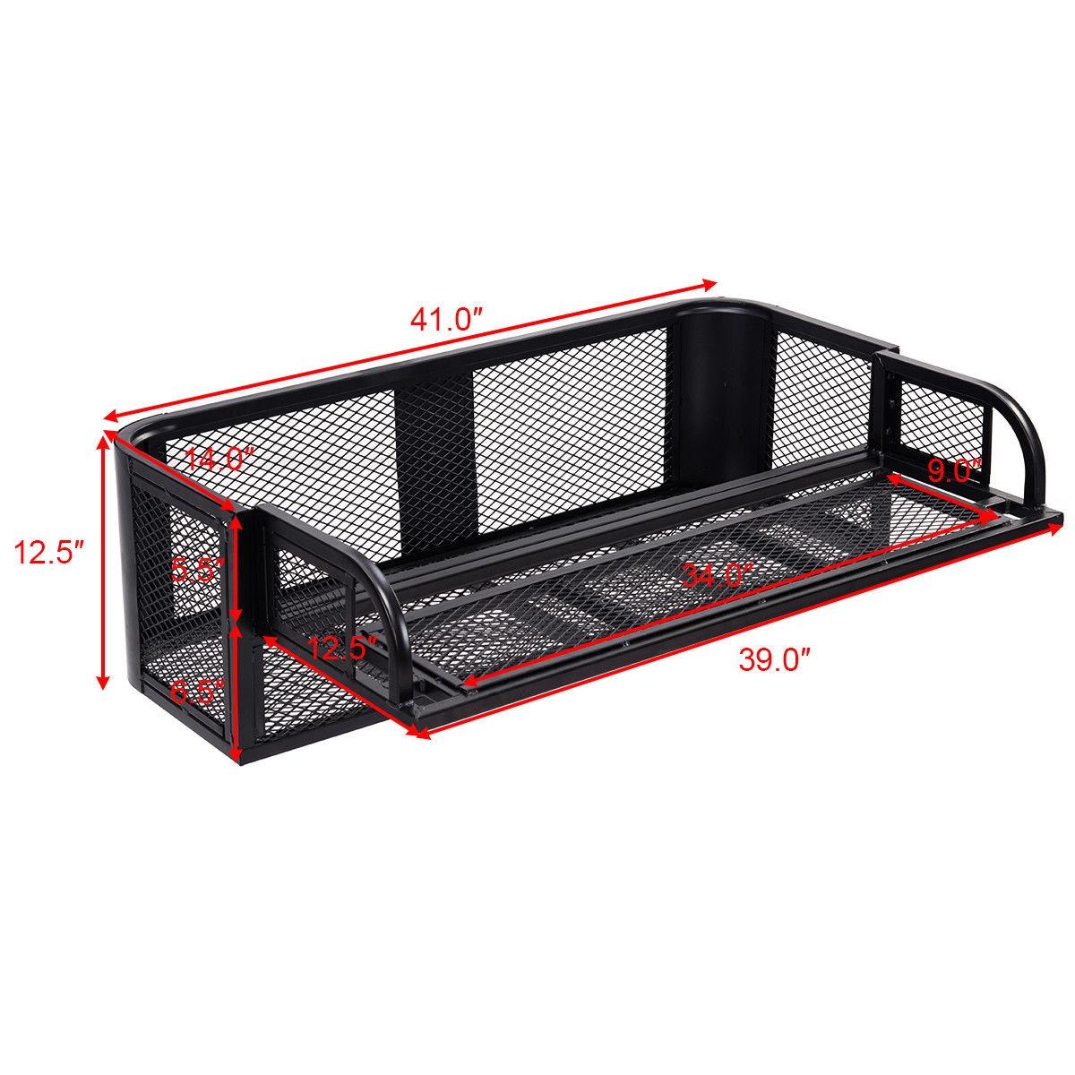 ATV UTV Universal Steel Cargo Hunting Rear Drop Basket Rack