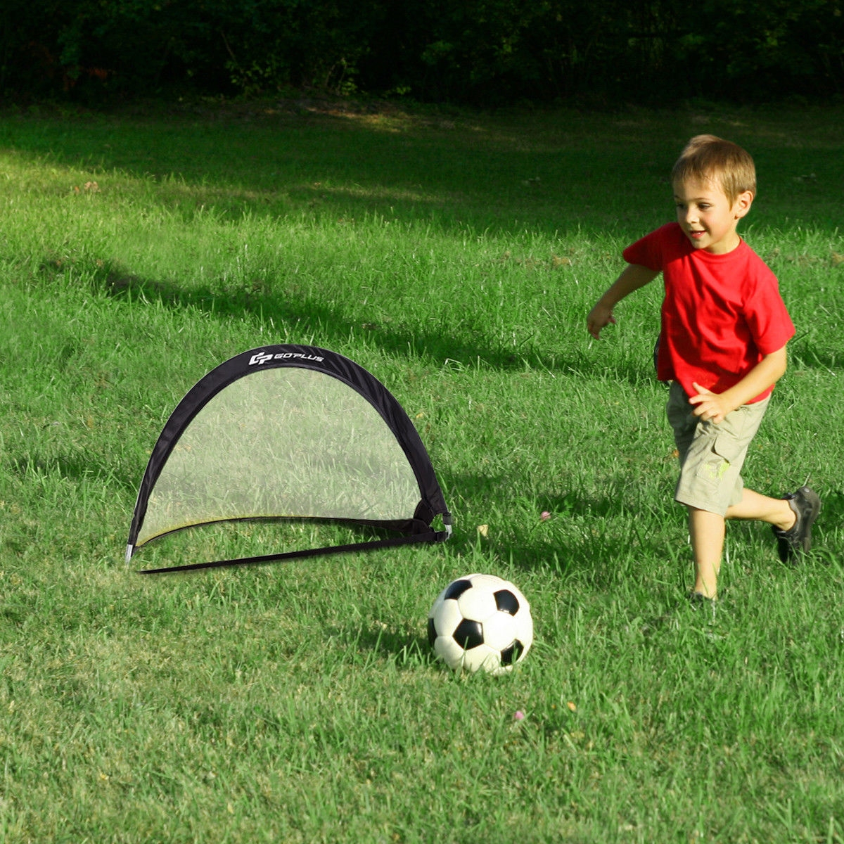 6' 4' 2.5' Set of 2 Portable Pop-Up Soccer Goals Net