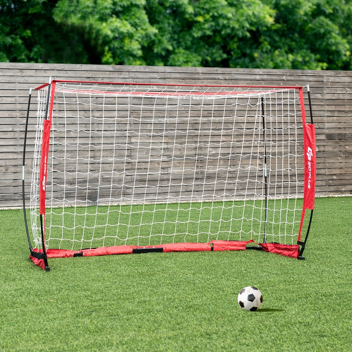 6'/12' Durable Bow Style Soccer Goal Net with Bag