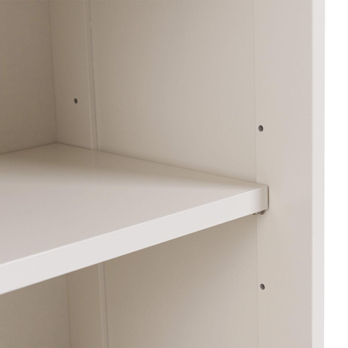 Kitchen Storage Cabinet with Glass Sliding Door