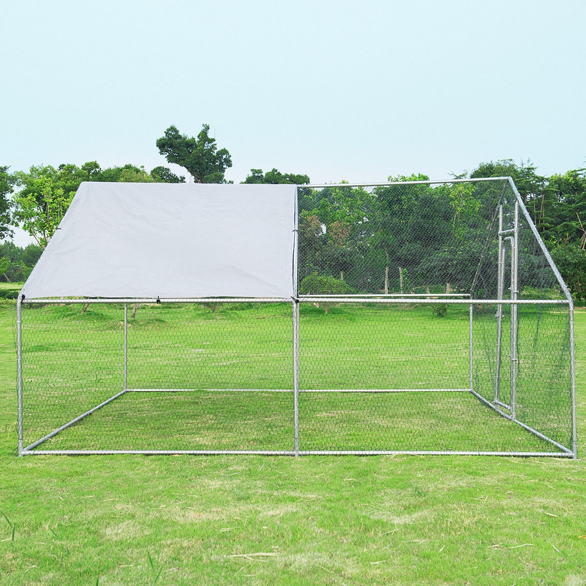 13' x 13' Large Animal Kennel with Roof Cover