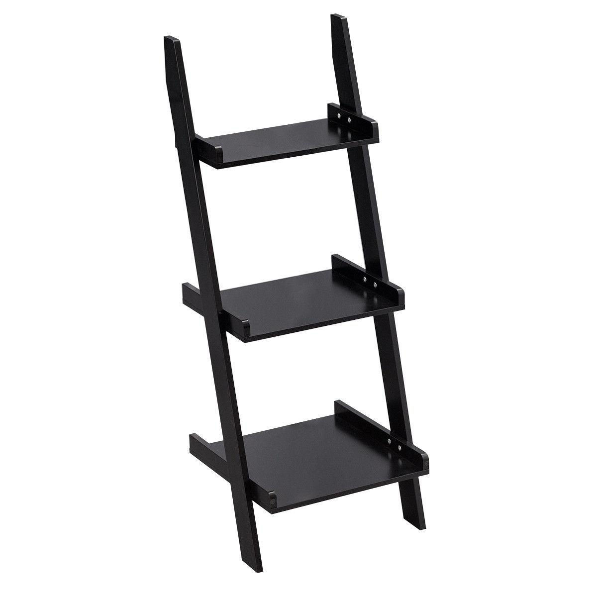3 Tier Leaning Wall Ladder Display Planting Storage Rack