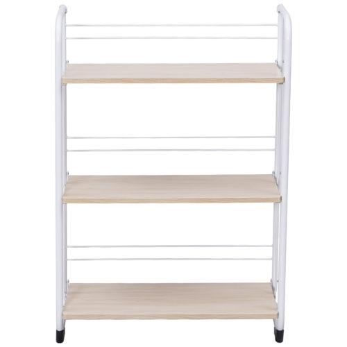 3-Tier Folding Shelves Storage Utility Standing Rack