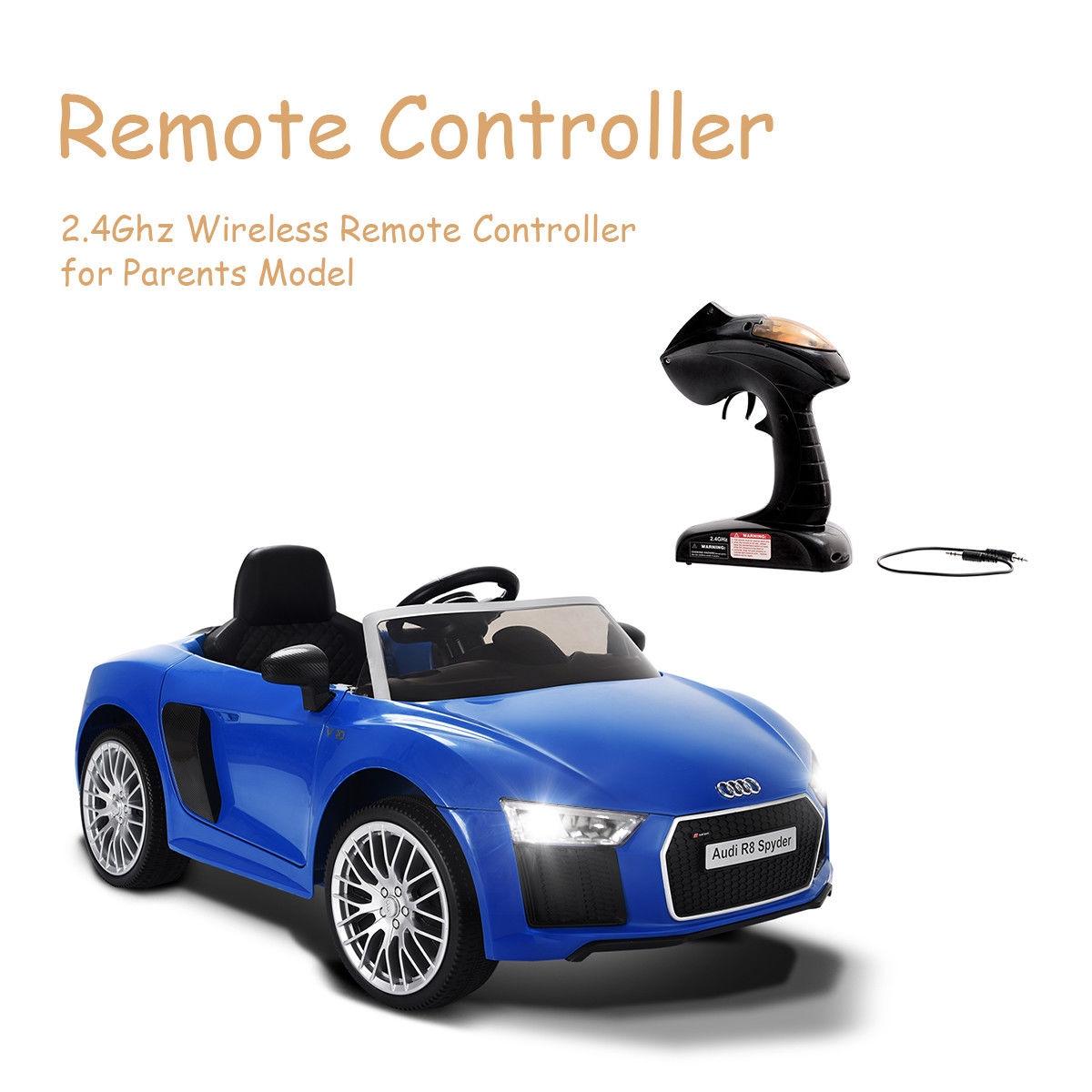 12 V Audi R8 Spyder Licensed Electric Kids Riding Car