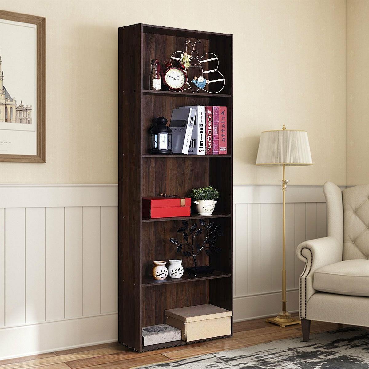 5-Shelf Storage Bookcase Modern Multi-Functional Display Cabinet Furniture