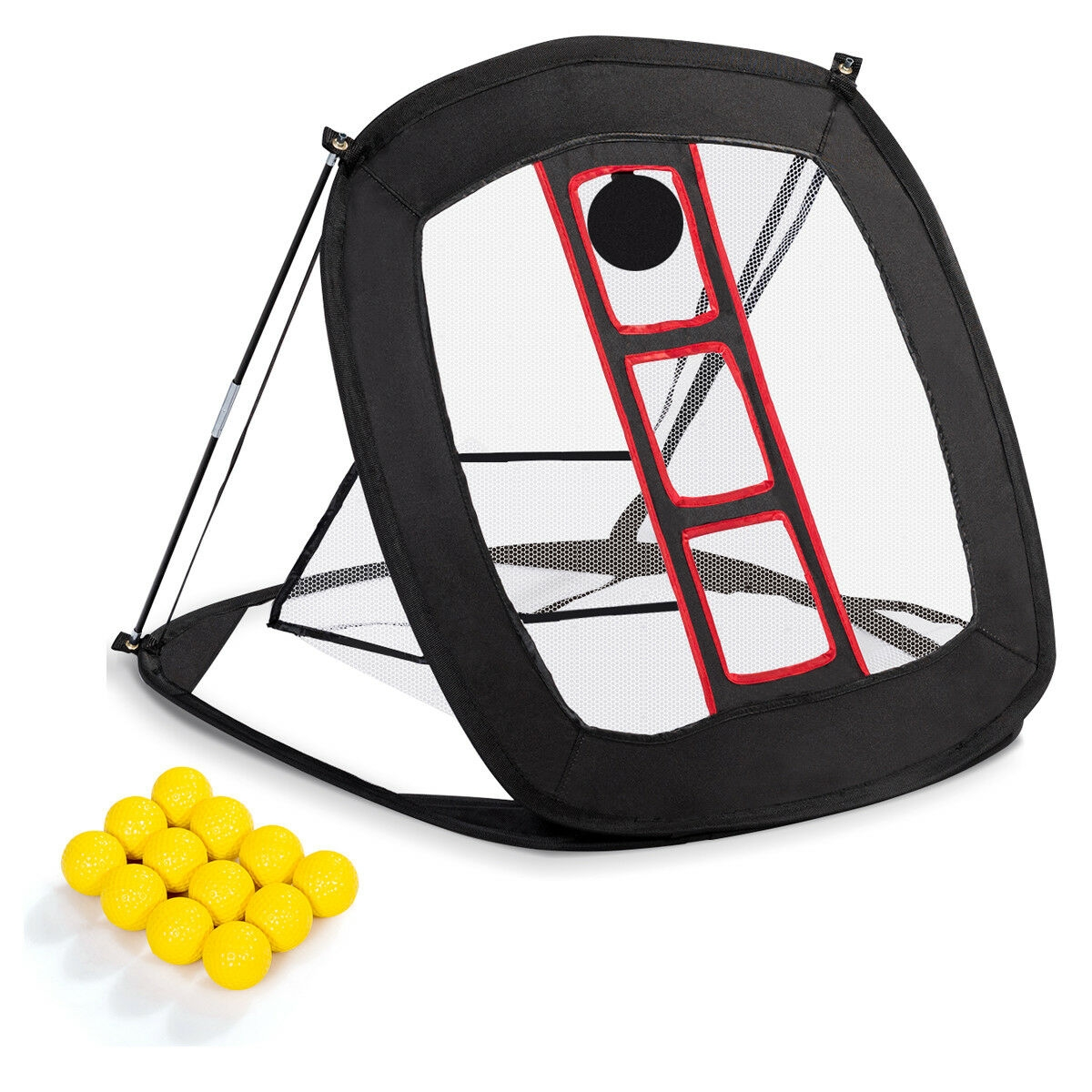 Portable Pop Up Golf Chipping Net with 12 Training Balls