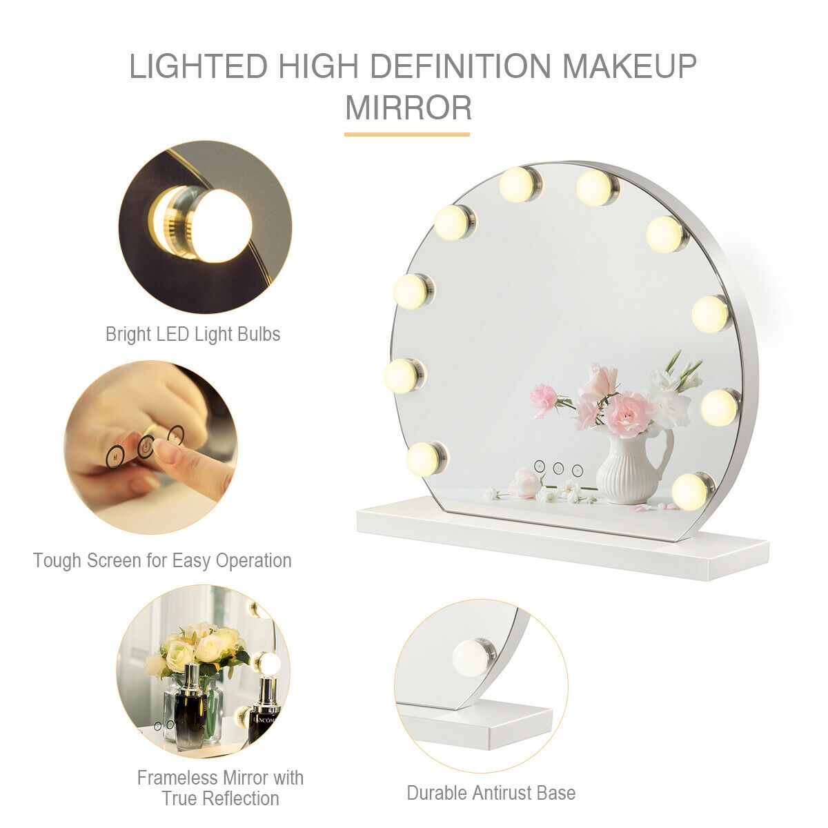 Hollywood Style Makeup Vanity Mirror with Light