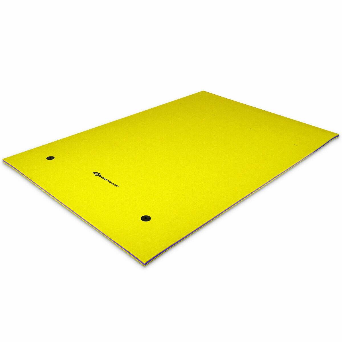 9' x 6' 3 Layer Floating Oasis Water Pad Foam Mat