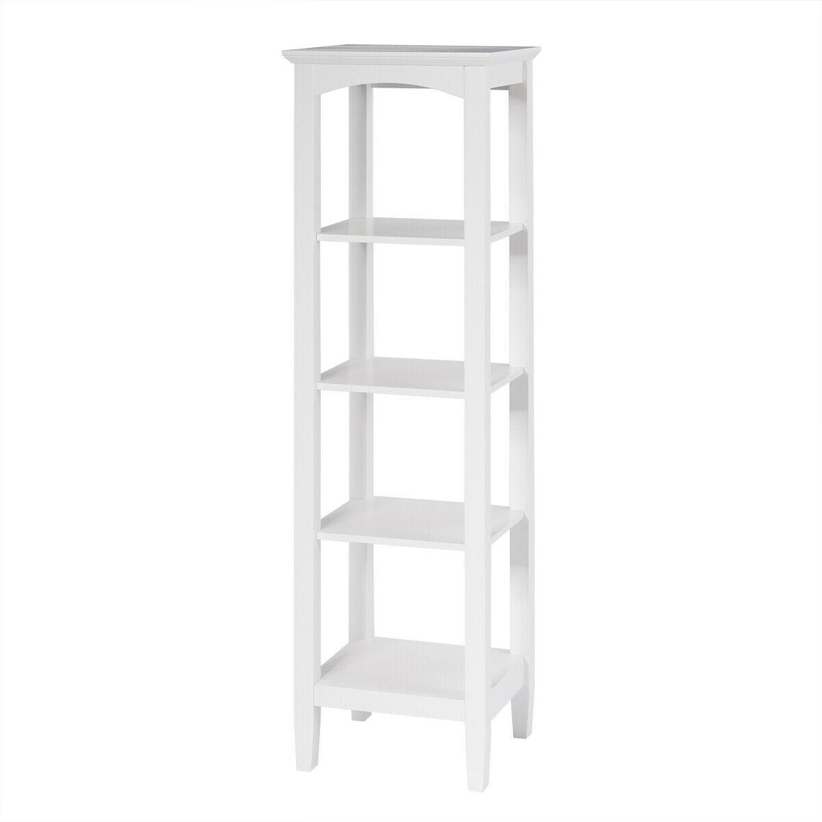 5-Tier Utility Shelves Storage Rack Multifunctional Freestanding Shelving Unit