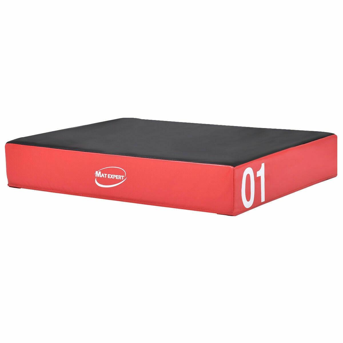 PVC Soft Plyometric Exercise Foam Jumping Box-Red
