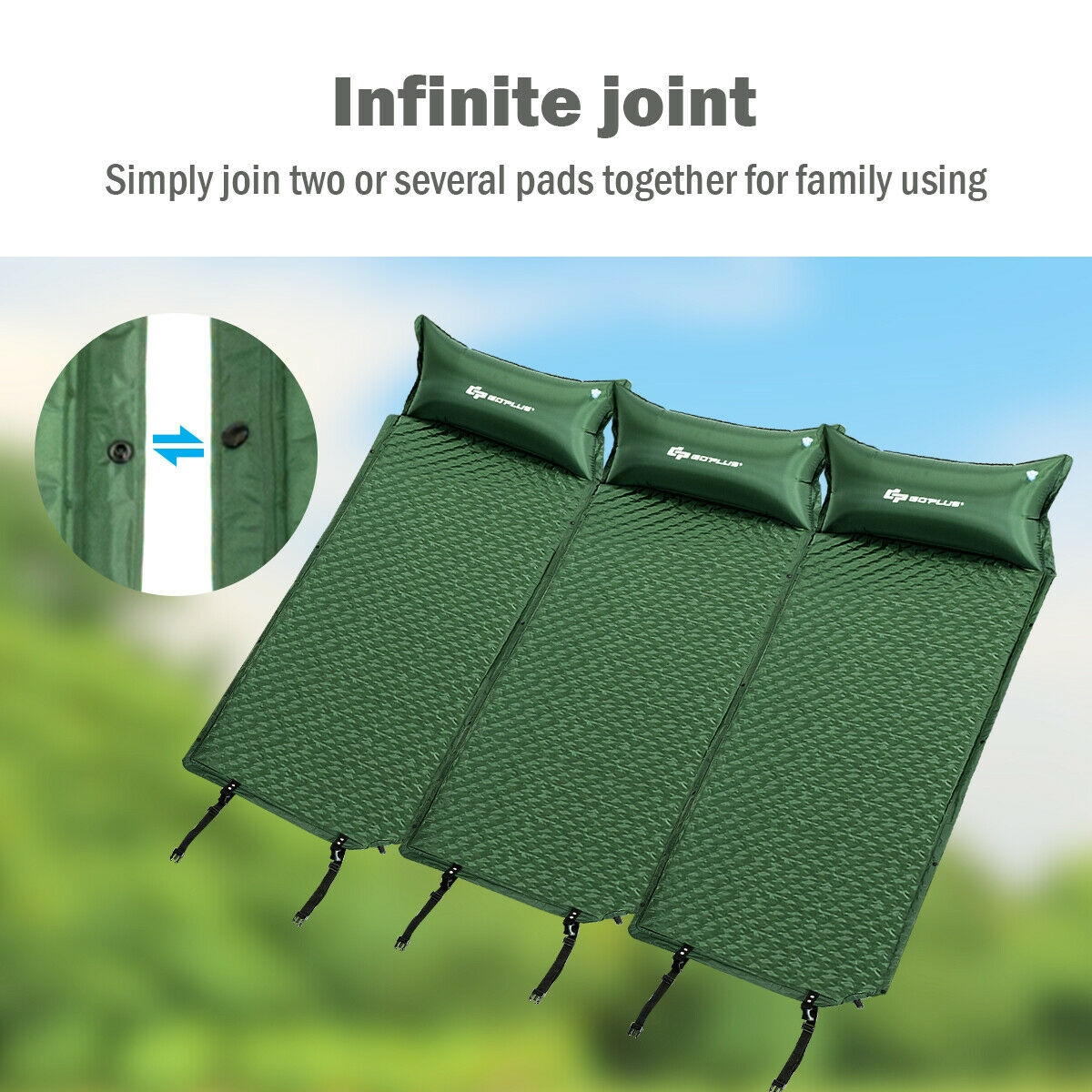 Self Inflating Sleeping Comfortable Foam Camping Pad