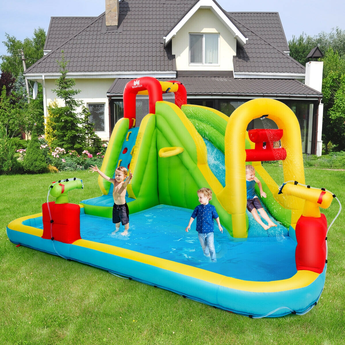 Inflatable Splash Water Bounce House Jump Slide Bouncer