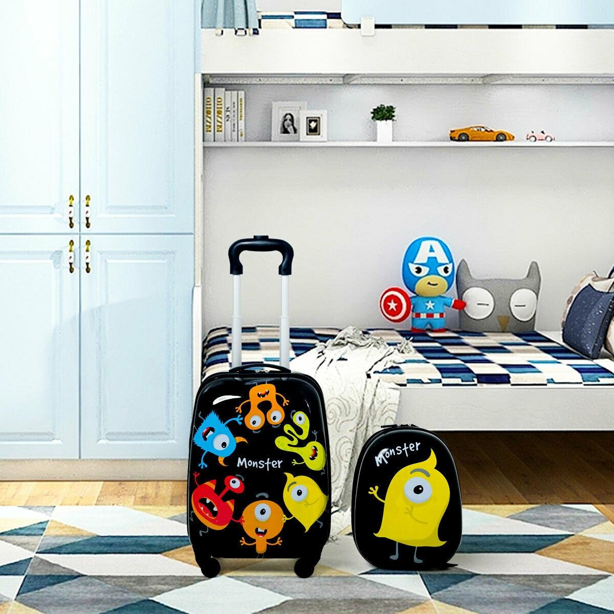 2 pcs Kids Luggage Set 12