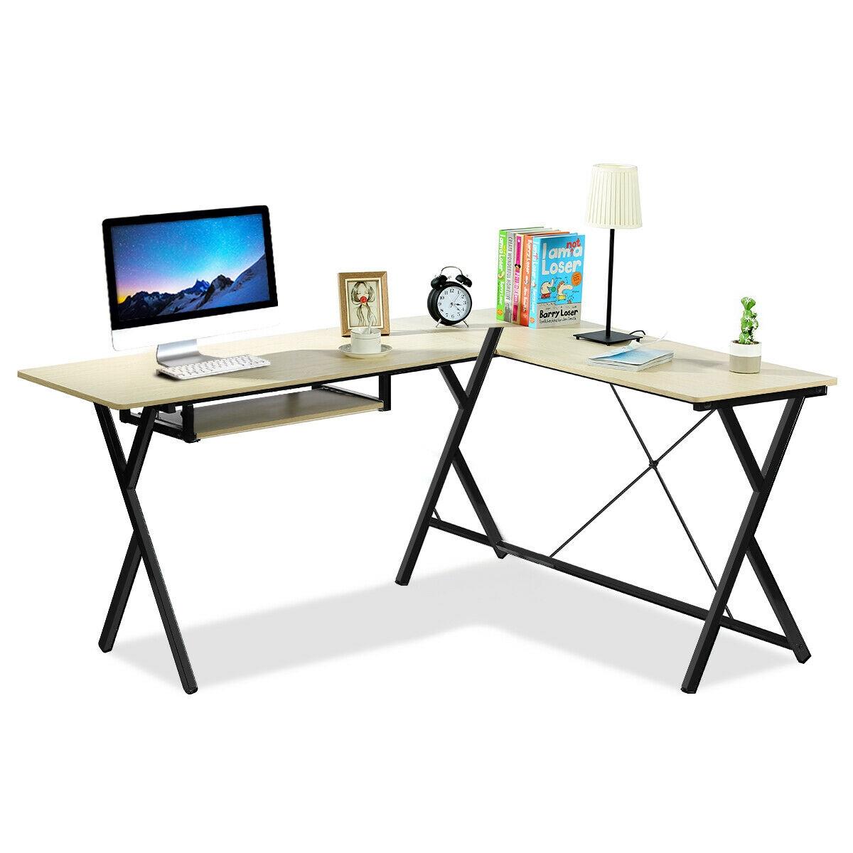 L-Shaped Computer Desk Corner Writing Desk PC Latop Table
