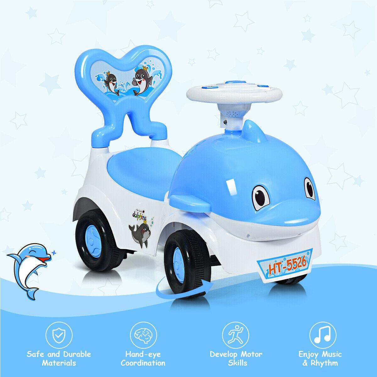 3-in-1 Baby Walker Sliding Car Pushing Cart Toddler Ride
