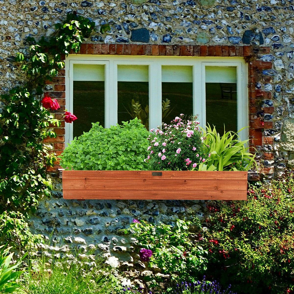 36 Inch Wooden Flower Planter Box Garden Yard Decorative Window Box