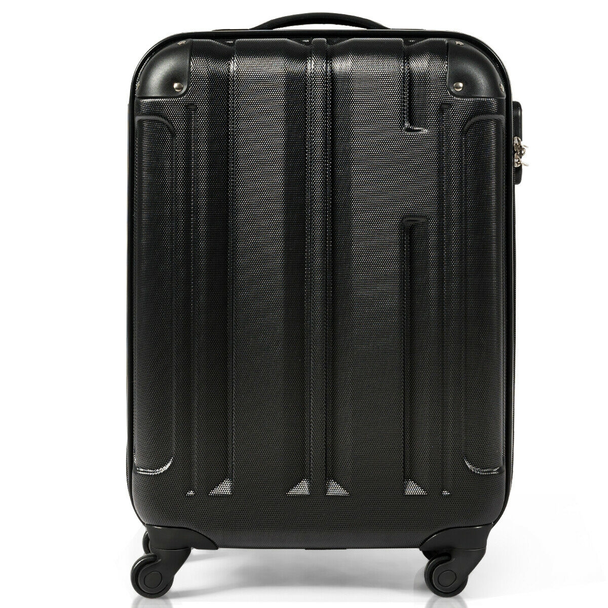 ABS Lightweight Hard Shell Luggage Suitcase with 4-Wheel, Black - 18 Inches