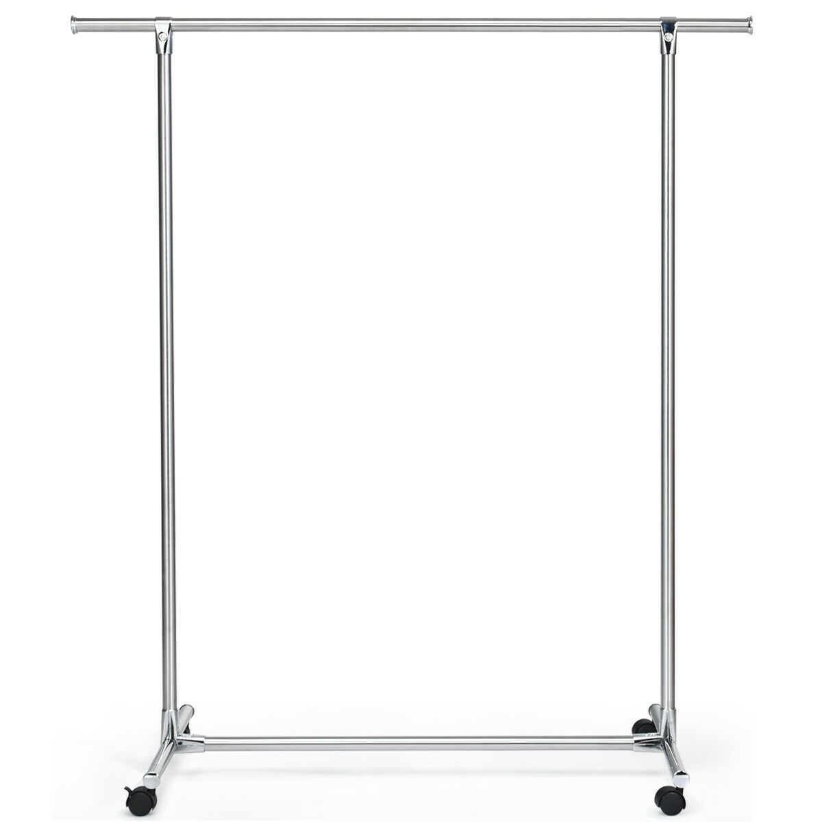 Clothing Rack Stainless Steel Heavy Duty Hanging Rail with Wheels