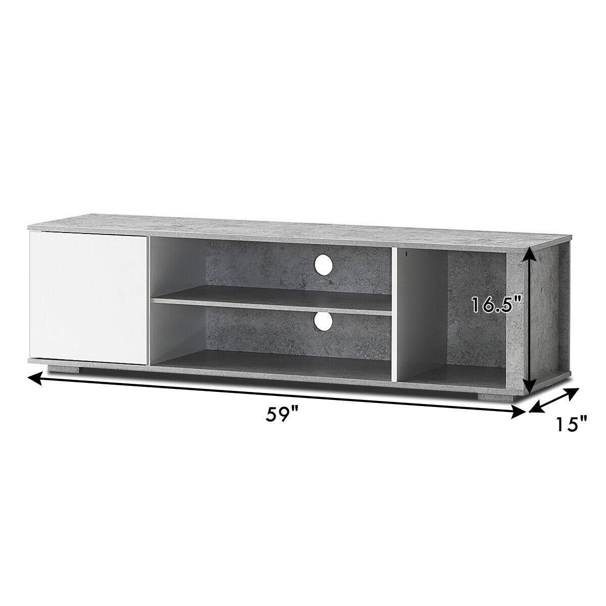 TV Stand Entertainment Media Center Console Shelf Cabinet Hold up to 60