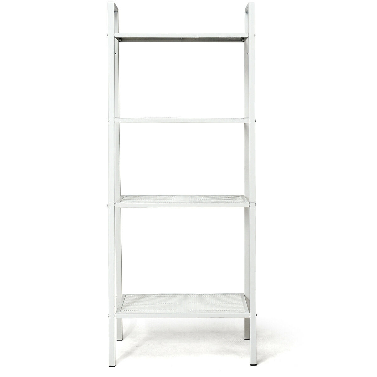 4-Tier Metal Shelf Storage Rack Bookshelf Mesh Layers Display Stand