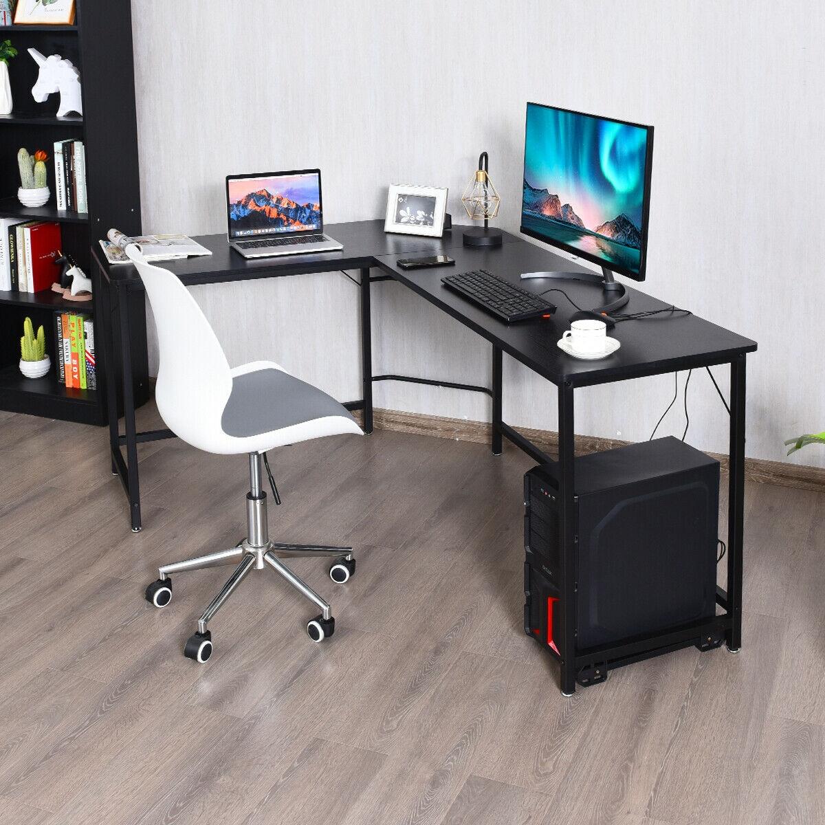 L Shaped Desk Corner Computer Desk PC Laptop Gaming Table Workstation