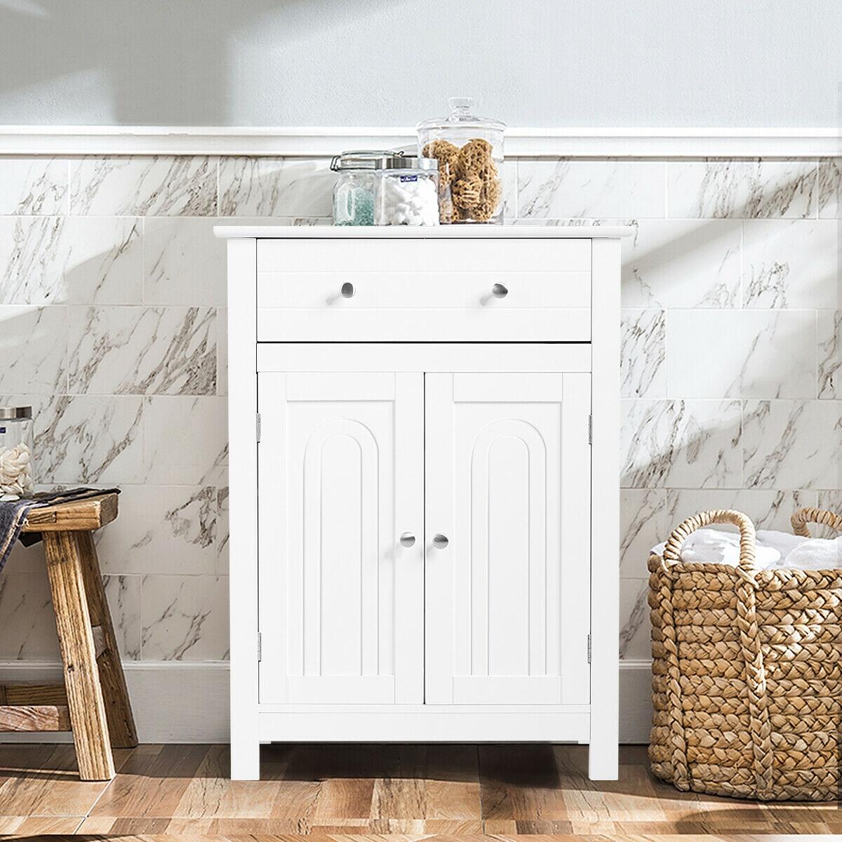 Bathroom Storage Cabinet Free Standing Large Drawer
