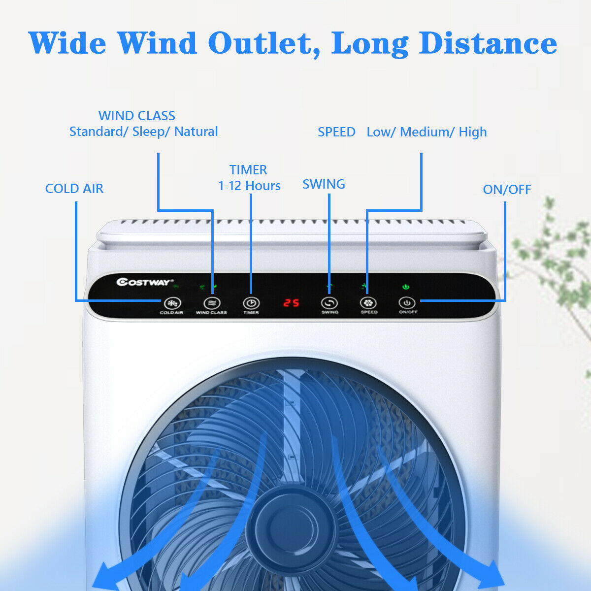 Evaporative Portable Air Cooler Fan & Humidifier