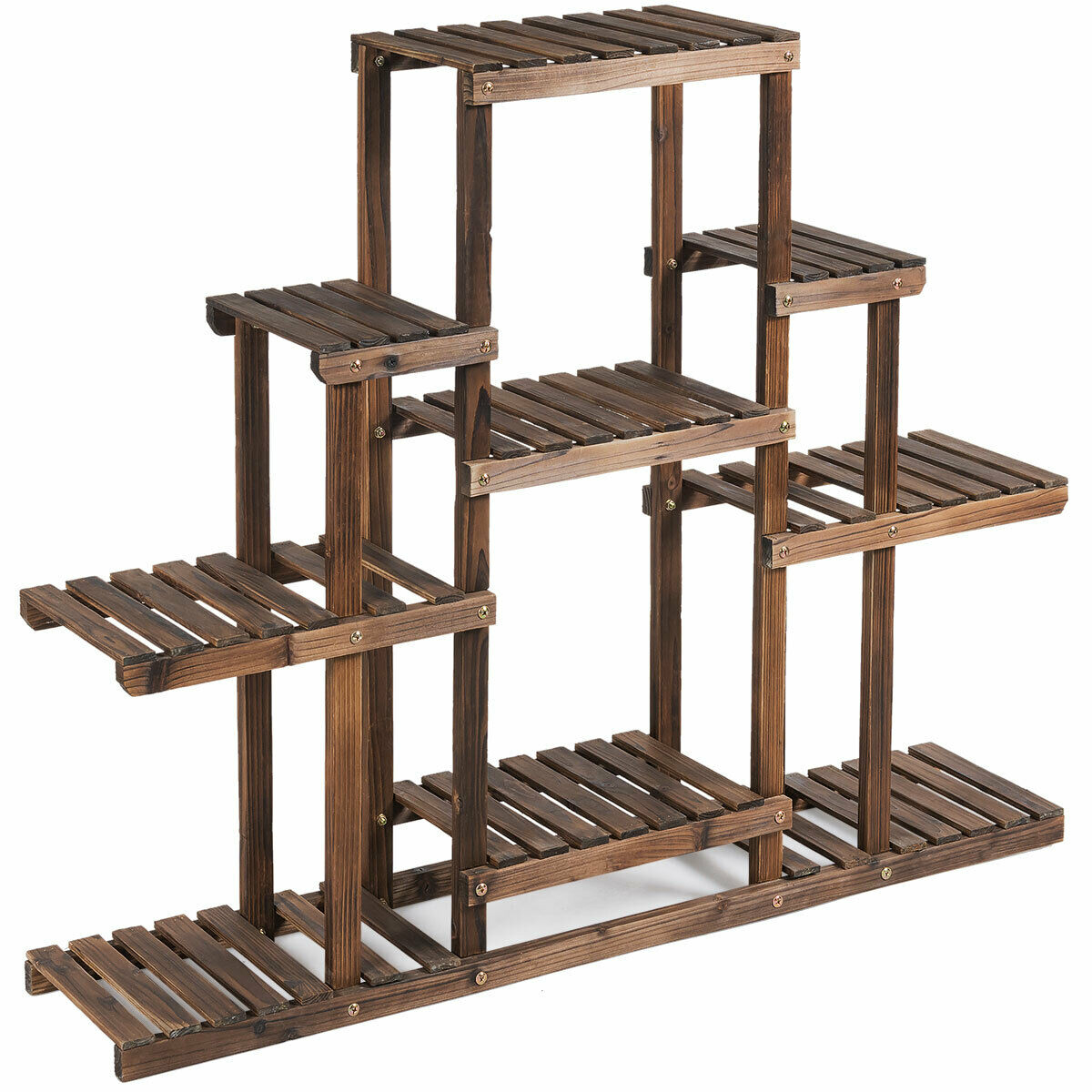 6-Tier Flower Wood Stand Plant Display Rack Storage Shelf