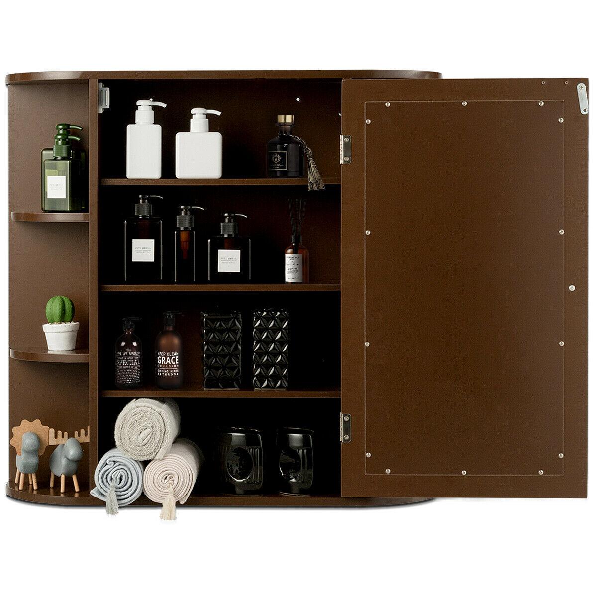 Multipurpose Mount Wall Mirror Bathroom Storage Cabinet