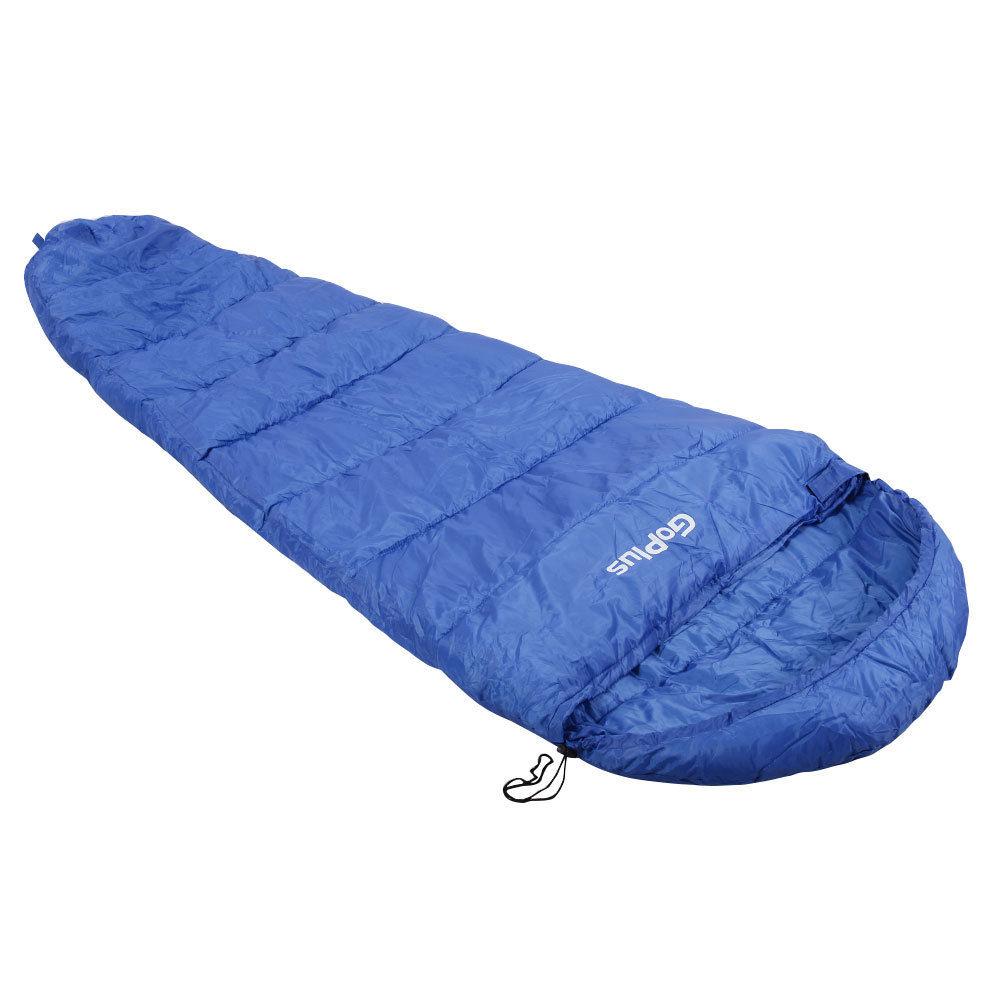 Outdoor Waterproof Camping Sleeping Bag w/ Carrying Bag-Blue