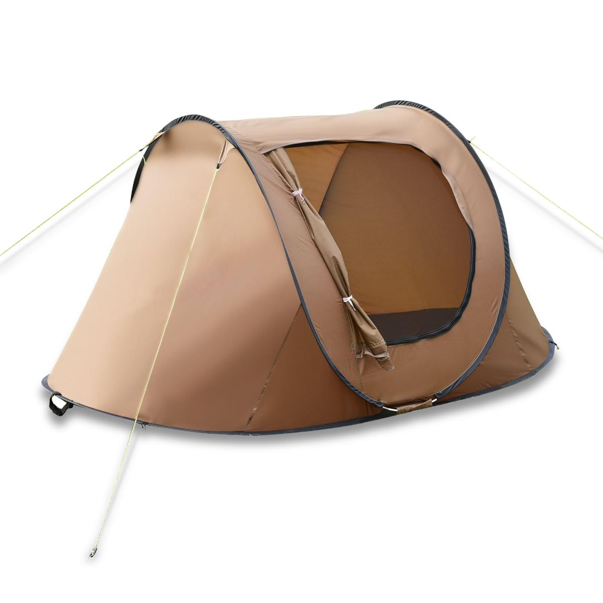 Waterproof 2-3 Person Camping Tent-Brown