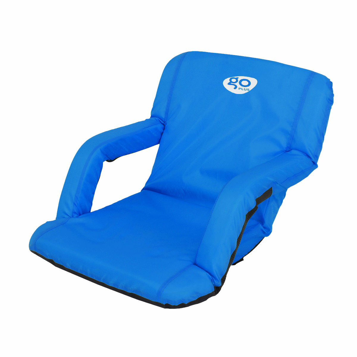 Reclining Seat Padded Cushion Camping Sport Chair-Blue