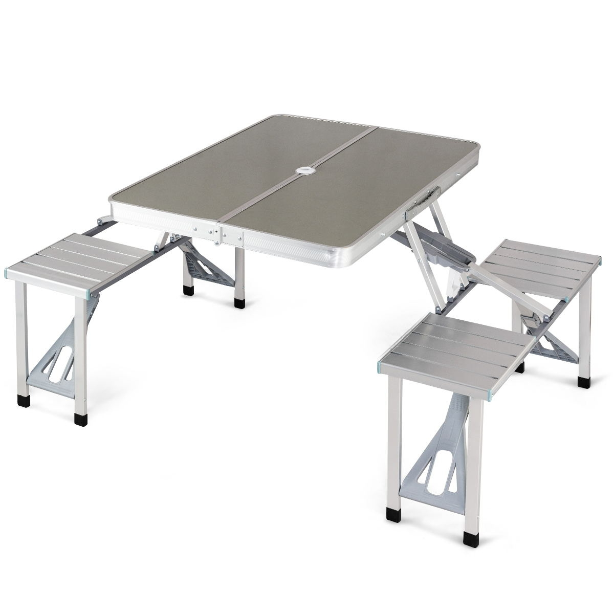Aluminum Portable Folding Picnic Table with 4 Seats